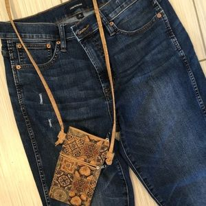 J.CREW Vintage Straight Denim Ripped Jeans